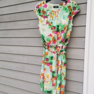Guess Watercolor Print Dress Sz 10